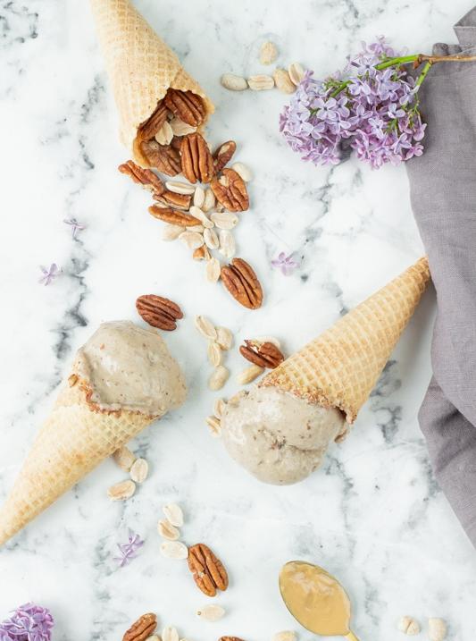 Arašídová zmrzlina s pekany